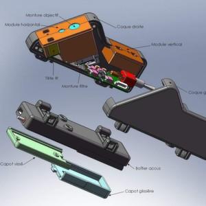Der Kasten sendet einen ungefährlichen Infrarotstrahl aus, der waagrecht entlang des Bodens bis zu 70 cm vor dem Benutzer projiziert wird.