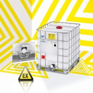 Carbon-Nano-Tubes im Nano-Flansch des Ecobulks MX-EX antistatischvermeiden eine elektrostatische Aufladung des Mediums – besteVoraussetzung für den sicheren Einsatz in Ex-Zonen.
