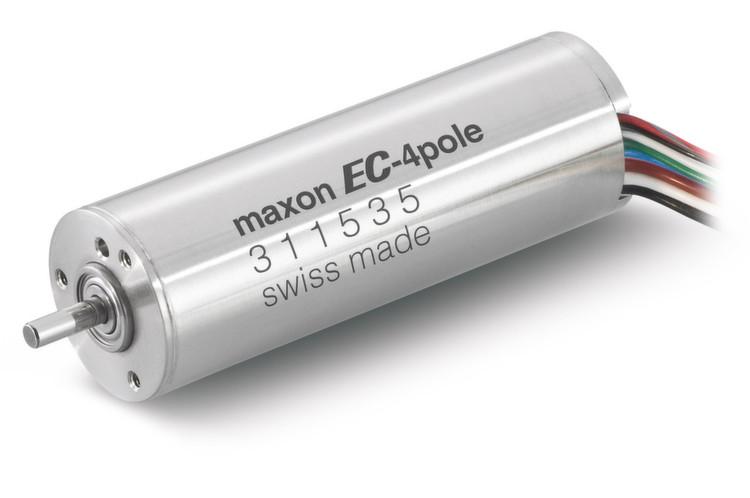 Der bürstenlose maxon EC-4pole verfügt dank eines 4-Pol-Magneten über ein hohes Leistungsvermögen.
