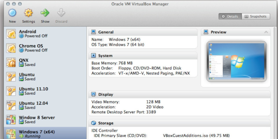 Oracle VM VirtualBox 4.2: neuen VM Group Funktionalität wird die Verwaltung einer höheren Anzahl von ähnlichen Virtual Machines vereinfacht und effizienter gestaltet.