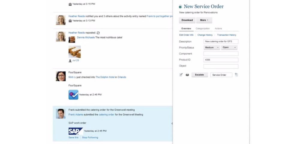 Anwender sollen direkt in Connections auf SAP-Anwendungen zugreifen.