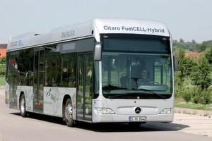 In den Citaro passen bis zu 76 Passagiere. Der Antrieb erfolgt mittels zweier wassergekühlter Asynchron-Radnabenmotoren in einer speziellen Portalhinterachse.