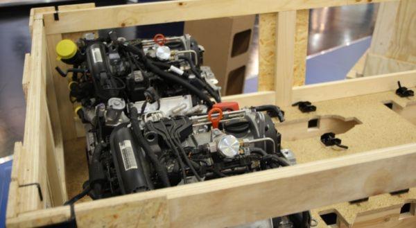 Motoren unterwegs: Holzverpackungen sind in der Industrie begehrt. Im ersten Quartal 2012 konnten die Unternehmen des HPE noch einmal zulegen.