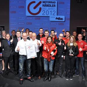 Motorradhändler des Jahres 2012: Zweirad Trinkner ist Deutschlands Nummer eins