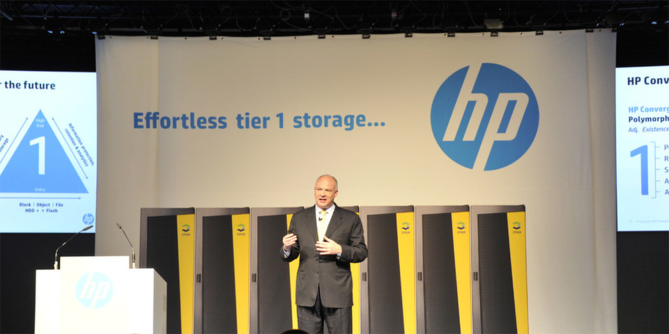 David Scott, Senior Vice President GM, HP Storage präsentierte auf der HP Discovery die wohl bedeutenste Neuankündigung: 3Par wird jetzt auch für den Mittelstand erschwinglich.