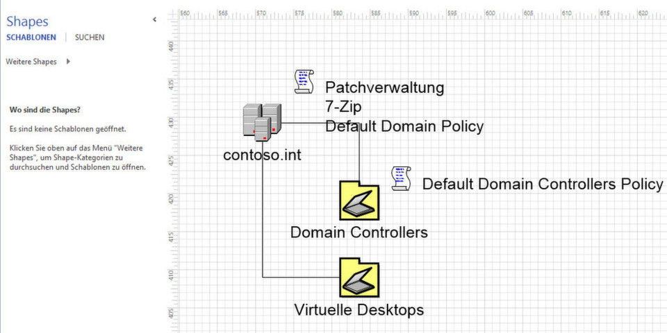 how to use microsoft active directory topology diagrammer