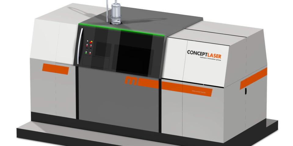 Die Metall-Laserschmelzanlage X line 1000R verfügt über einen Bauraum von 630 x 400 x 500 mm (x, y, z).