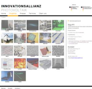 Der Internetauftritt bietet Hintergrundinformationen zu Zielen, Förderkonditionen und Ansprechpartnern der Innovationsallianz Photovoltaik.