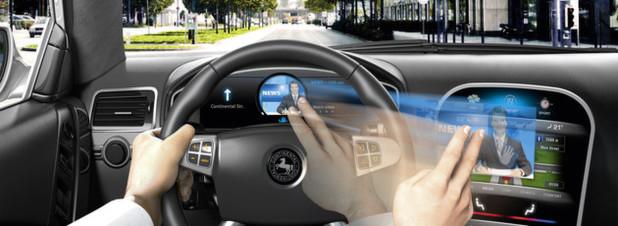 Eine einzige berührungslose Geste mit der Hand reicht beim Magic User Interface von Continental aus, um Inhalte wie von Zauberhand zu verschieben
