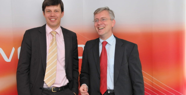 Univention-Geschftsfhrer Peter Ganten (rechts) und Sales-Chef Cord Martens haben den Vertrieb inzwischen konsequent auf den Channel ausgerichtet.