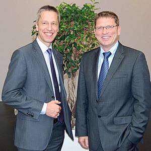 Die Geschäftsführer der Gruschwitz GmbH Tech-Twists, Ditmar Schultschik (links) und Klaus Gudat