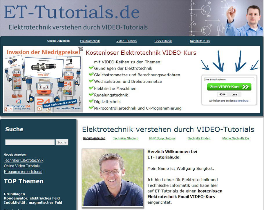 Elektrotechnik-Kurs: Elektrotechnik einfach verstehen mit fünfminütigen Video-Tutorials