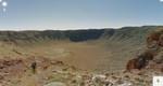 Google-Maps-Bild: Blick in den Meteor Crater
