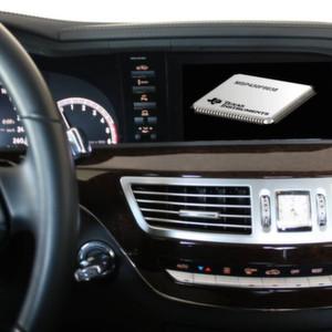 Infotainment in Auto: die LED-Hintergrundbeleuchtung lässt sich am mit einem Mikrocontroller steuern