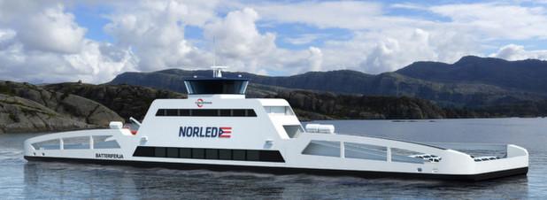 Die erste elektrisch angetriebene Autofähre der Welt: ab 2015 soll die ZeroCat 120 zwischen den Orten Lavik und Oppdal über den Sognefjord fahren