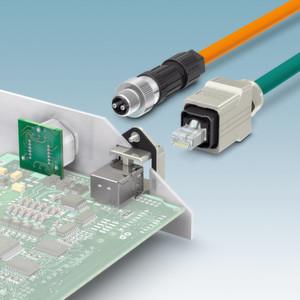 Bild 3: Datenanschlüsse zur Kommunikation mit dem Wechselrichter – über M12- und RJ45-Steckverbinder können alle wichtigen Daten des Wechselrichters ausgelesen werden