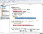 Bild 1: Die auf MPS basierende mbeddr-IDE stellt Syntax-Highlighting, Code Completion sowie statische Typprüfung zur Verfügung. Dies gilt für C selbst, als auch für Erweiterungen. Im obigen Beispiel ist unter anderem eine Zustandsmaschine sowie eine Entscheidungstabelle zu sehen. Die Entscheidungstabelle ist ein schones Beispiel für die Verwendung nicht-textueller Notationen, die MPS aufgrund des projizierenden Editors unterstützt.