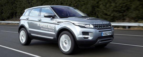 Land Rover Prototyp mit dem weltweit ersten 9-Gang-Automatgetriebe (9HP) von ZF.