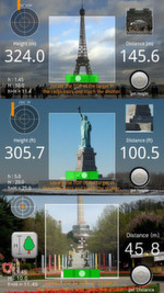 Das Bild zeigt eine Lösung zum Messen der Entfernung und Höhe mit dem Smart Measure dank Trigonometrie