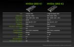 Die beiden neuen GPU-bestückten Server-Karten von Nvidia: 'K1' und 'K2'; K steht für 'Kepler'.