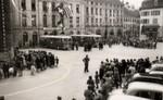 Place Pestalozzi: Am 30. September 1953 wurde der Gyrobusbetrieb von Yverdon offiziell eröffnet