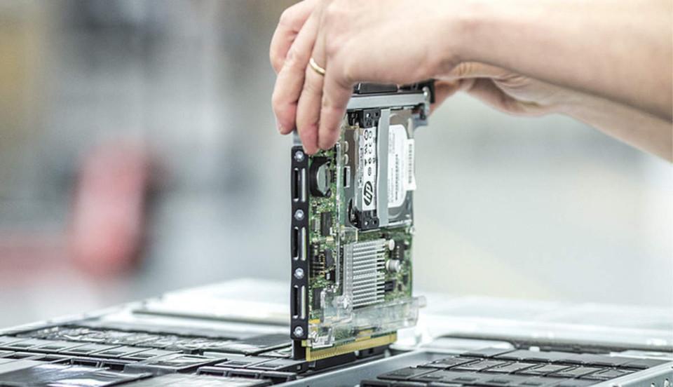 Mit HP-Moonshot wird der Server wird zur Steckkarte.