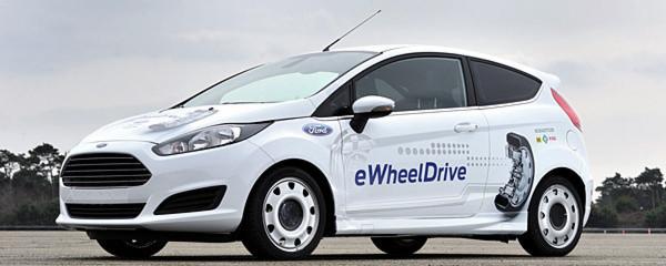 """Schaeffler und Ford wollen den Antrieb von Elektrofahrzeugen vollständig in die Räder verlegen. Beide Unternehmen stellten auf dem """"auto, motor und sport""""-Kongress ihr so genanntes Ideenauto mit dem Radnabenantrieb """"E-Wheel Drive"""" vor."""