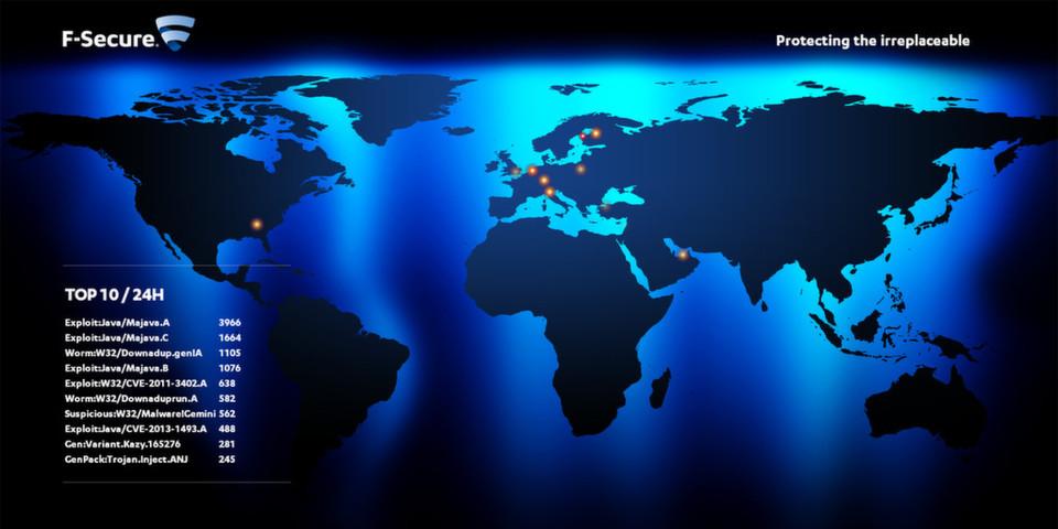 In der Malware-Hitliste von F-Secure finden sich diverse Schwachstellen-Exploits.