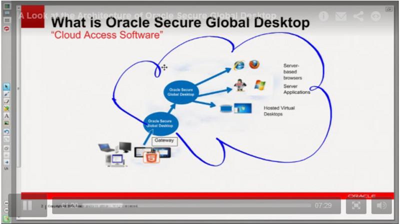 Oracle stellt ein Video über die Architektur von Oracle Secure Global Desktop 5.0 zur Verfügung (siehe: Link unten)