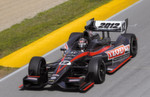 Shakedown des Indy Car 2012: Am 8 August 2011 fährt Dan Wheldon die ersten fünf Runden im neuen IndyCar von Dallara auf der Mid-Ohio-Rennstrecke