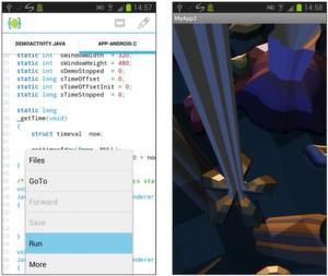 Links aide kompiliert den nativen code durch berühren der run