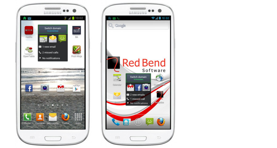 """True befindet sich noch in der Testphase und funktioniert dank eines Partner-Abkommens mit Samsung zunächst nur auf dem Smartphone """"Galaxy S3"""". Doch Unternehmen, die die Virtualisierungs-Software ausprobiren möchten, können sich direkt an Red Bend wenden (siehe: Link unten)"""