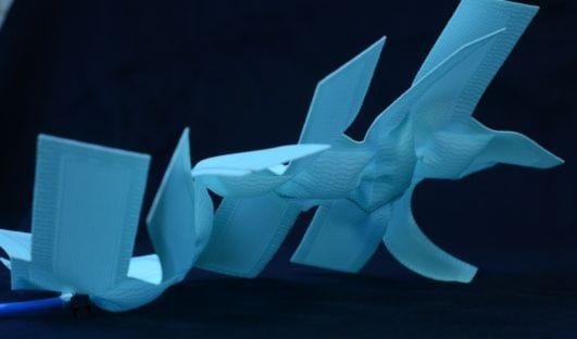 Mit geschickter Anordnung der Luftkammern in pneumatischen Textilien sind komplexe dreidimensionale Strukturen möglich.