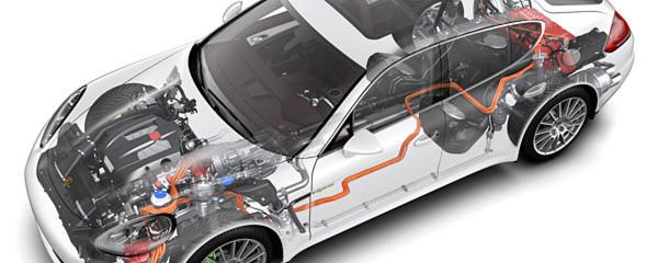 Viele Automobilhersteller nennen die Zulieferer ihrer Hybridmodelle nicht – stellen aber deren Techniken in ihren eigenen Fahrzeugen vor. Beim Porsche Panamera S E-Hybrid gelang ein Blick hinter den Vorhang.