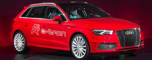"""Ab dem Ende dieses Jahres ist der Audi A3 Sportback e-tron bestellbar. Auf der """"Future Lab tron-experience"""" stellte Audi außerdem weitere tron-Modelle vor."""