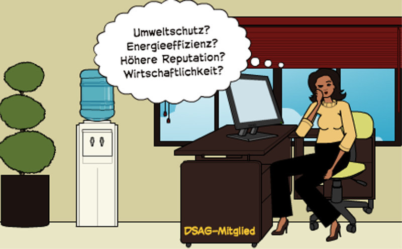 Der DSAG sind Umweltschutz, Energie-Effizienz, Reputation und Wirtschaftlichkeit ein Anliegen, wie den meisten Rechenzentrumsbetreibern.