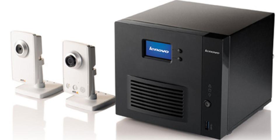 Mit Netzwerkspeichern von LenovoEMC können benutzerfreundliche Videoüberwachungssysteme von bis zu 48 Kameras pro Gerät verwaltet werden.