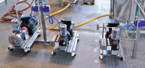 Hydra-Cell G10- und G03-Pumpen, wie sie von Separlab verwendet werden.