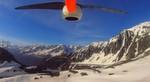 Aufnahme der Drohnen-Kamera bei der Alpenüberquerung