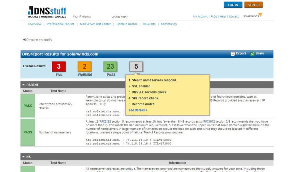 Die DNS-Management-Tool-Sammlung von DNSstuff zählt nun zu den über 30 kostenlosen IT-Managementlösungen von Solarwinds.