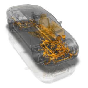 """Contitech-Know-how auf einen Blick: Vom Antriebsriemen bis zum Material für Sitze orientieren sich alle technischen Lösungen an dem Leitmotiv """"Engineering Green Value""""."""