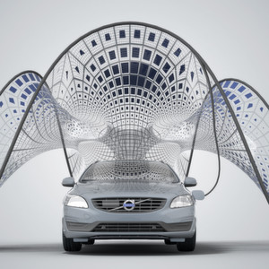 Volvo träumt vom Solar-Ladepavillion zum Zusammenfalten