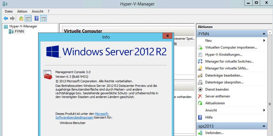 Mit Windows Server 2012 R2 hat Microsoft auch die Virtualisierungstechnologie Hyper-V enorm verbessert