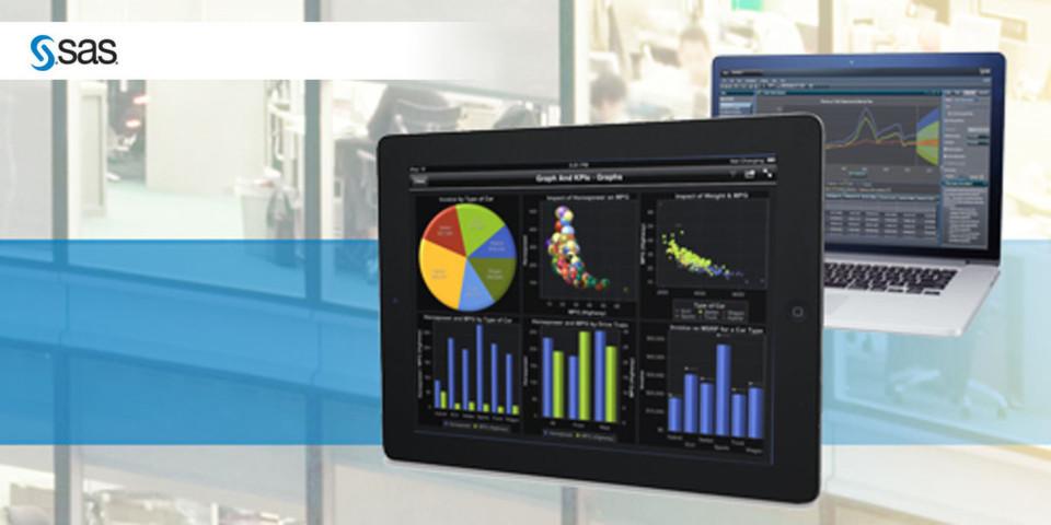 Mit SAS Visual Analytics können auch Fachanwender Berichte für Desktoprechner und Tablets erstellen.