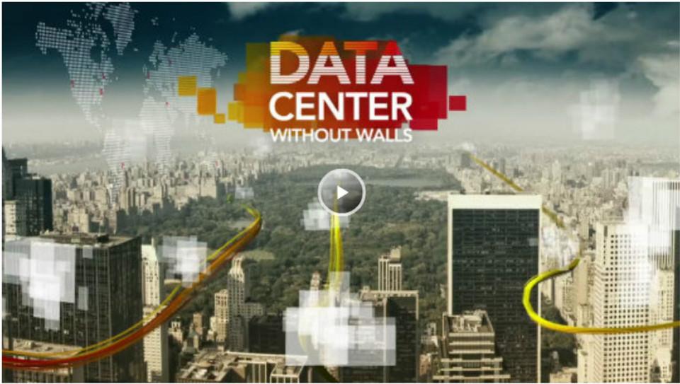 """Ein """"Rechenzentrum ohne Wände"""" führt geographisch auseinanderliegende Rechenzentren von Unternehmen und Providern in einem einzigen virtuellen Ressourcenpool zusammen. Die Technik von Ciena dafür ist etwa ein ins Rechenzentrum integriertes """"Cloud Backbone"""" (siehe Video)."""