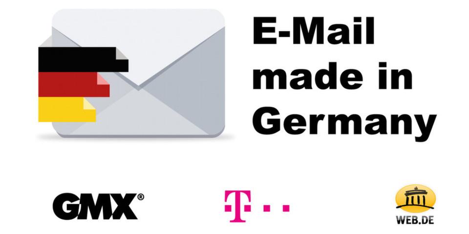 """Für mehr Sicherheit beim Versand von E-Mails soll die Initiative """"E-Mail made in Germany"""" sorgen, die Ralph Dommermuth, United Internet, und René Obermann, Deutsche Telekom, vorstellten."""