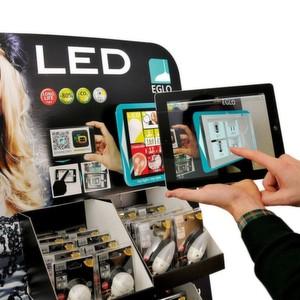 Für den Leuchten- und Leuchtmittelhersteller Eglo hat DS Smith Packaging erstmals ein Display mit einer Augmented-Reality-Anwendung realisiert.