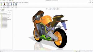 Screenshot aus Creo 2.0: eine «RC8» von KTM. Bis zum Jahresende sollen die Hälfte der CAD-Anwender auf die aktuelle Version Creo 2.0 umstellen (zurzeit wird sie von etwa einem Viertel der Bestandskunden genutzt).