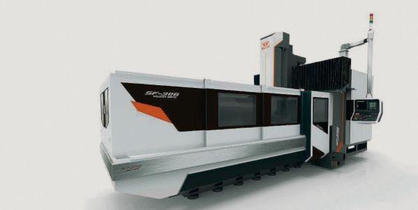 Die Portalfräsmaschine Vision Wide SF 3116 wird auf der diesjährigen EMO in neuem Design ausgestellt.
