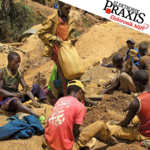 Eine Zinnmine in Nyabibwe in der nördlichen Kivu-Provinz der DR Kongo: Das Zinnerz wird im Tagebau abgebaut, die meisten Arbeiter verfügen nur über einfache Werkzeuge.